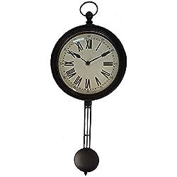 Vintage Pendulem Wall Clock (One Size) (Black)