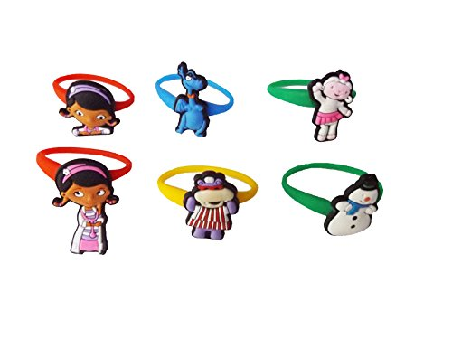 Disney Channel Cartoon Characters Costumes (AVIRGO 6 pcs Colorful Releasable Ponytail Holder Elastic Rubber Stretchable No-slip Hair Tie Set # 112 - 7)