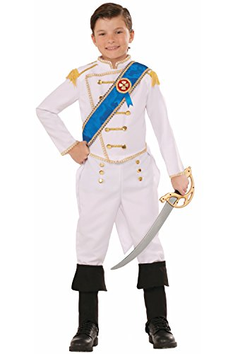 Forum Novelties Kids Happily Ever After Prince Costume, White, Medium -