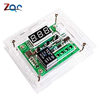 W1209 DC 12V Blue LED Digital Thermostat Temperature Control Thermometer Thermo Controller Switch Module + NTC