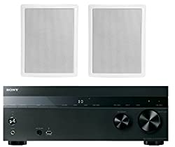 Sony 5 2 Channel 725 Watt 4k A V Home Theater Receiver Polk Easy To Install High Performance Surround Sound 6 5 2 Way In Ceiling Speaker System Pair