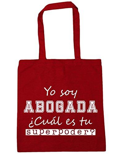 ¿Cuál para Asas de Compra litros HippoWarehouse Bolsa x gimnasio Soy Superpoder capacidad 42cm es Abogada 10 Playa 38cm Yo Rojo Con Bolso tu xCgq6tw