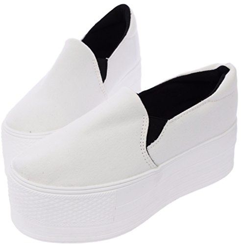 Black Platform Slip 60 C7 White Maxstar Synthetic Sneakers on Cotton SgUqR