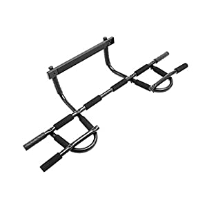 Prosource Fit Multi Grip Chin Up/Pull Up Bar, Heavy Duty Doorway Trainer for Home Gym