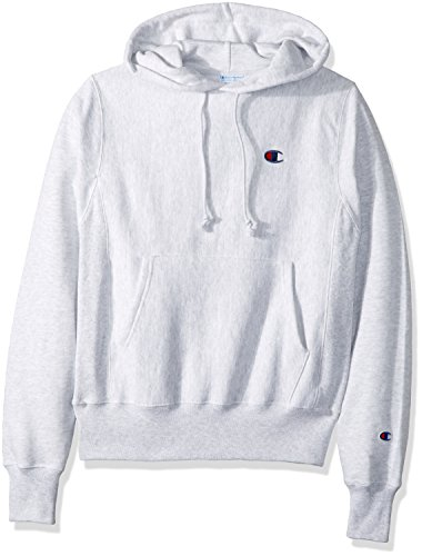 - Champion LIFE Men's Reverse Weave Pullover Hoodie, GFS Silver Grey/Left Chest C Logo, X Small