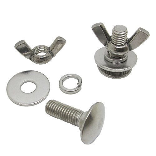 Scuba Choice Tech Diving Stainless Steel Butterfly Screw Bolts and Wing Nuts for Backplate ()
