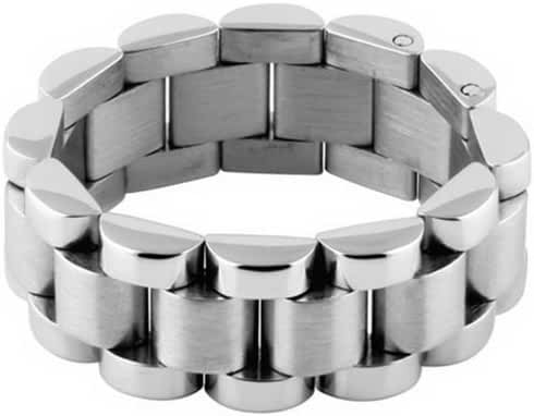 316L Stainless Steel Ring - Watch Band Ring