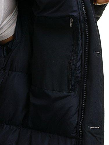 Giacca – Classico Cerniera Blu Invernale Con Lunga Bolf Cappuccio Uomo Scuro 4d4 Parka ERxqHwa