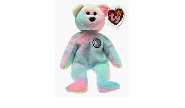 Amazon.com  Ty Beanie Babies Happy Birthday Bear November Retired No Hat   Toy  by Ty  Toys   Games d987b3ee902a