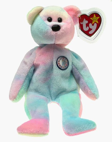 0d56f1e0c6e Image Unavailable. Image not available for. Color  Ty Beanie Babies Happy  Birthday Bear November Retired No Hat  Toy  ...