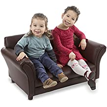 Melissa & Doug Child's Sofa - Coffee Faux Leather Children's Furniture