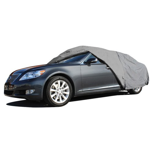 OxGord Economy Car Cover - 1 Layer Dust Cover - Lowest Price - Ready-Fit/Semi Custom - Fits up to 180 Inches by OxGord