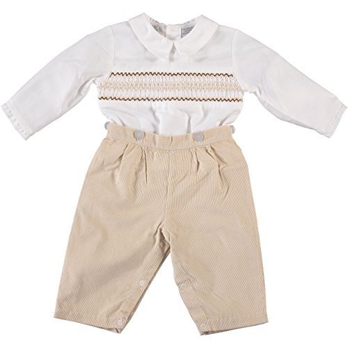 Tan Boys Shirt (Little Boy's Zig Zag Tan Bobbie Suit (4T))