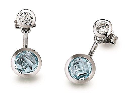 Viventy-776054-Boucles d'oreille avec Topaze Bleu-Oxyde de zirconium
