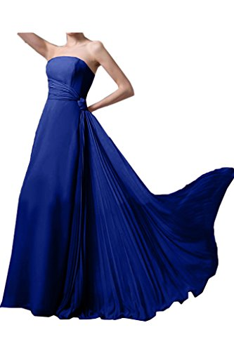 Missdressy - Vestido - plisado - para mujer azul real
