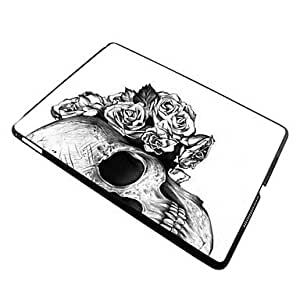 HP Elonbo Skull with Flowers Plastic Hard Back Case Cover for iPad Air 2