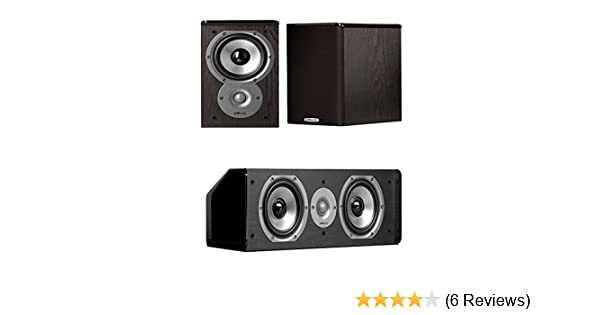 Amazon Polk Audio TSi100 Bookshelf Speakers Pair With A CS10 Center Channel Speaker Bundle Home Theater