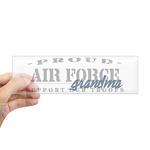 CafePress Proud Air Force Grandma (Blue) Bumper Sticker 10