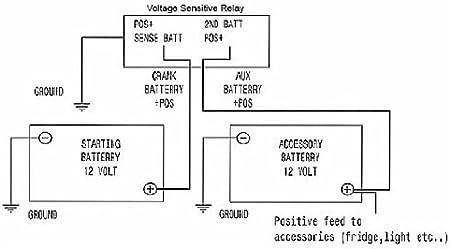 12 volt dual battery wiring diagram amazon com 12v dual battery 140a smart isolator  vsr voltage  12v dual battery 140a smart isolator