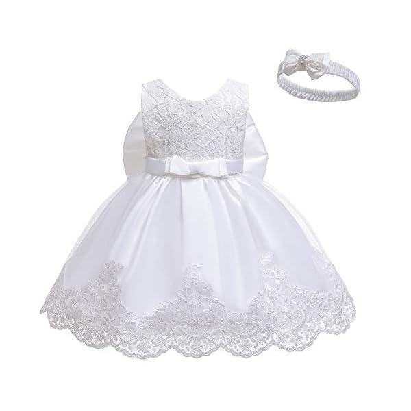 LZH Vestito da Ragazza per Bambina Abito da Battesimo da Principessa per Matrimoni Sposa Compleanno 2