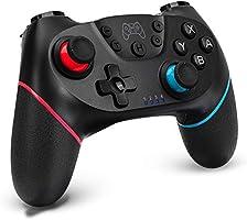「2021最新版」 Switch コントローラー 無線 Switch Pro コントローラー HD振動 小型6軸 ジャイロセンサー搭載 スイッチ コントローラー Bluetooth TURBO連射機能付き Nintendo Switchに対応...