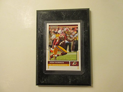 "Josh Norman Washington Redskins 2017 Panini 2017 NFL score card mounted on a 4"" x 6"" black marble plaque"
