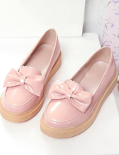 Uk3 Casual Pink Cn39 Zq Eu39 Semicuero Uk6 Punta Zapatos us8 Gyht Mujer 5 Exterior Beige Beige 5 Eu36 Rosa Bajo Mocasines Blanco Redonda Tacón De Cn35 us5 SqSvwZ