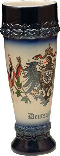 Beer Mug by King - Deutschland (Germany) German Wheat Beer Cup Blue 0.5l