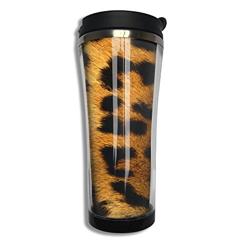 EQQ Tiger Print Design Double Wall Stainless Steel Mug Hot Cold Tumbler With Liquid Tight Travel Mug Vacuum Insulated Tumbler Drink Bottle