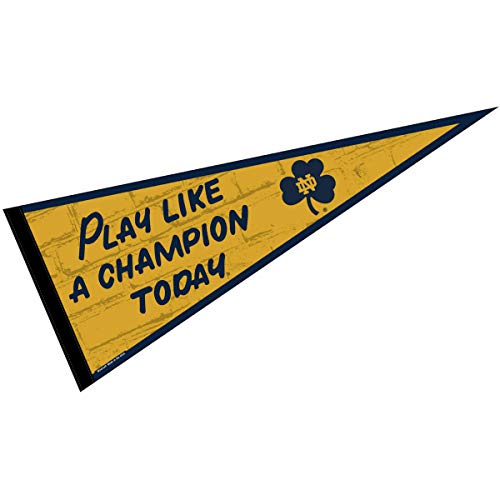 College Flags and Banners Co. Notre Dame Play Like A Champion Locker Room Pennant