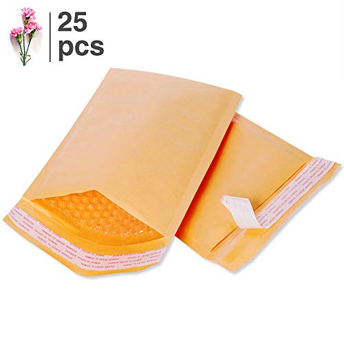 FUXURY FU GLOBAL #0 6x10 Padded Envelopes Kraft Bubble Mailers Small Bubble Envelopes 25pcs