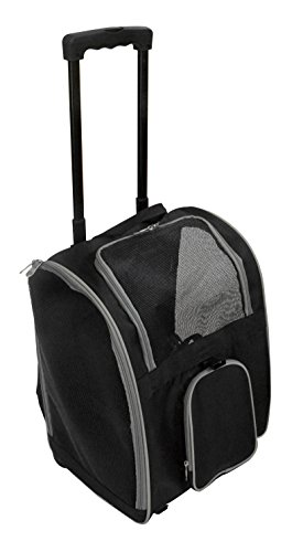 Premium Wheeled Pet Carrier, Gray