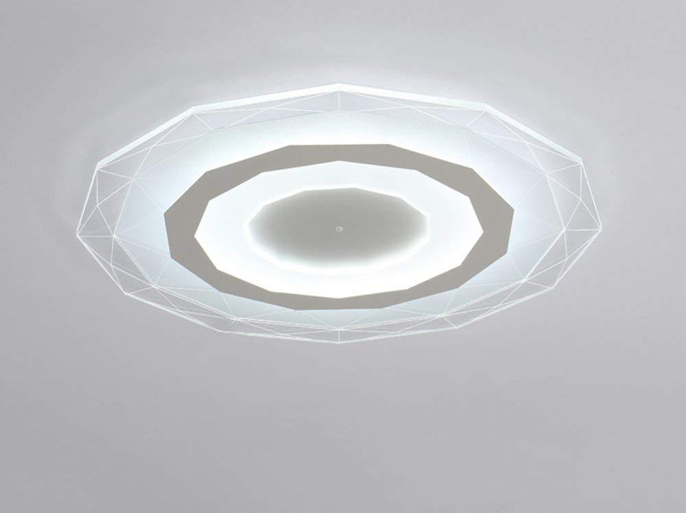 Modische Deckenleuchte einfache moderne Wohnzimmer Lampe warme Runde Schlafzimmer lampe Esszimmer Studie Beleuchtung (Größe  20 cm - weißes Licht)