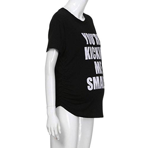 Canotta Maglietta Pr lettera corta incinte Manica Maglia Top Premaman Shirt stampa Camiciola Donna BYSTE 6OU6q7r