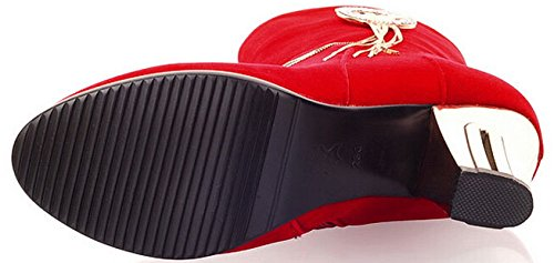 Laruise Women's Wedding Boots Red dijK789I