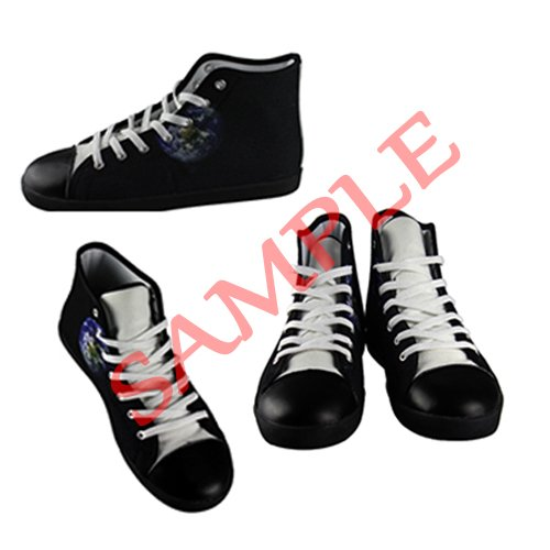 Dalliy Music Note And Guitar Mens Canvas shoes Schuhe Lace-up High-top Sneakers Segeltuchschuhe Leinwand-Schuh-Turnschuhe E