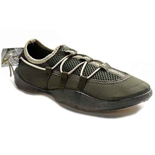 KENSBUY Mens Outdoor Breathable And Durable Sports shoes,Water Shoes,Sneakers,Slip-on EU40 Green