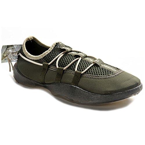 KENSBUY Mens Outdoor Breathable und langlebig Sportschuhe, Wasserschuhe, Turnschuhe, Slip-on Grün