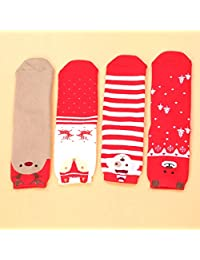 Baby Christmas Holiday Casual Socks - Colorful Fun Socks for Novelty Gifts (Size : 5-8 Years)