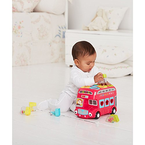 Early Learning Centre 147746 Shape Sorting Bus Toy, - Bus Sorting Shape