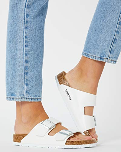 Birkenstock Unisex Arizona White Sandals - 5-5.5 B(M) US Women