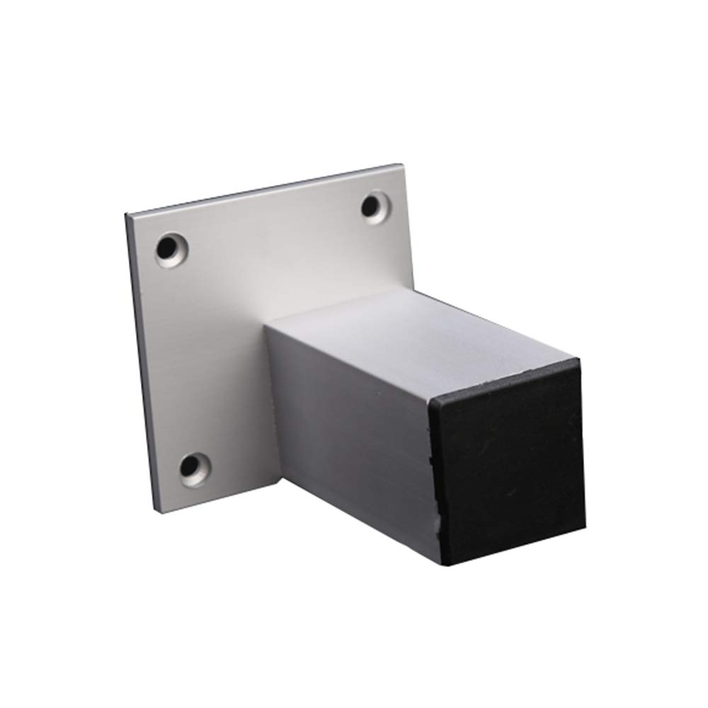 Metal table legs Furniture feet, Cabinet feet, Sofa feet, Aluminum Hardware, Furniture, Heightening feet - 4 Pieces, (Silver)