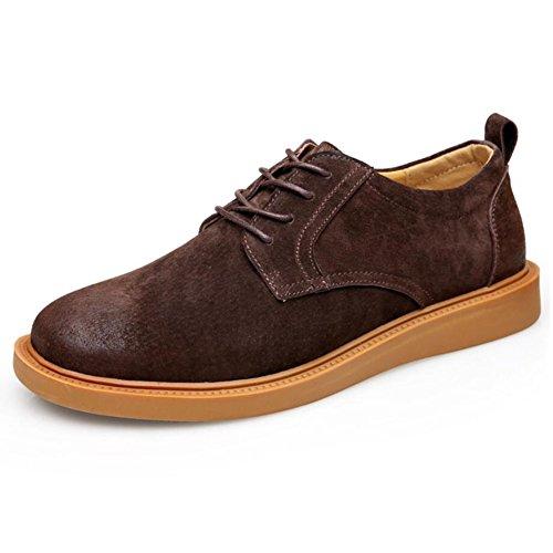 Herren Wildleder Schuhe Fruumlhling/Herbst/Winter Herren Martin Schuhe Casual/Buumlro Formelle Schuhe (Farbe : Braun  Größe : 43) Braun