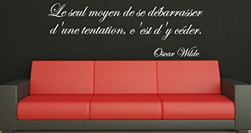 Dezign Stickers Muraux Decoratifs Citation La Tentation Oscar