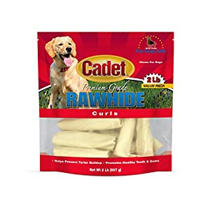 Cadet Rawhide Dog Treat Curls, 2 Pound