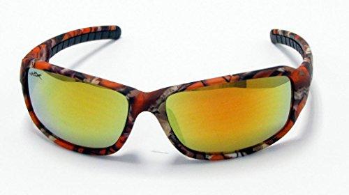 caza blanco Lens de y Naranja Orange aire pesca color de de los marrón VertX de Gafas Camo para running diseño naranja y al ciclismo libre de Orange camuflaje Rqg6awp8