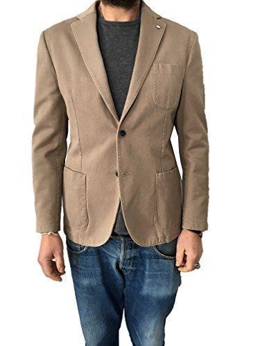 Beige Cotone 1911 Giacca Slim m b Vestibilità Uomo 100 L X0Haq