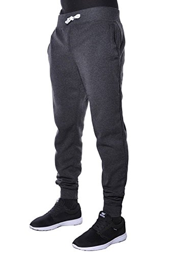 Hat and Beyond Mens Jogger Pants Active Basic Urban Slim Fit Elastic Fleece (Medium, Charcoal)