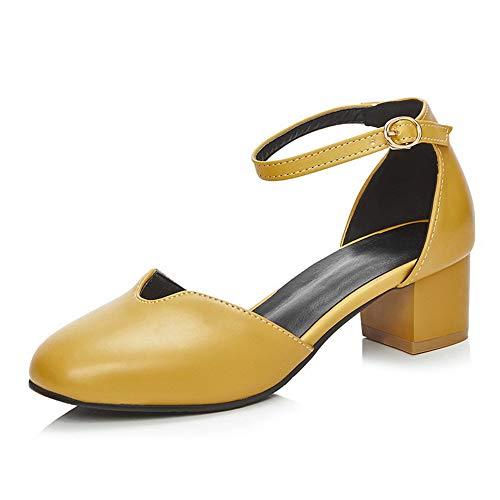 APL10441 Yellow Pumps Travel Shoes BalaMasa Solid Fashion Urethane Womens 0ww8qtX