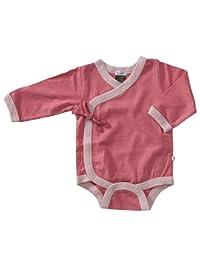 Babysoy Long Sleeve Kimono Bodysuit, Blossom, 0-3 months